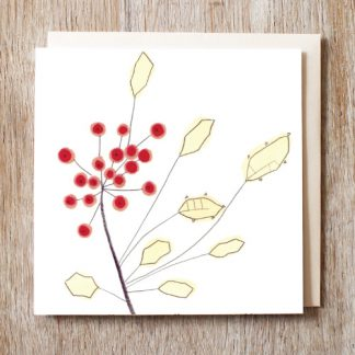 Holly Sprig Festive card