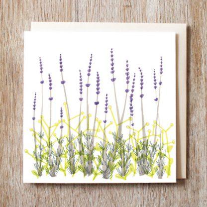 Lavender Garden Card
