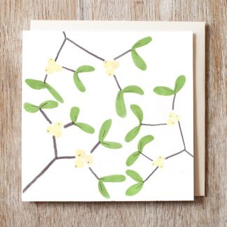Mistletoe Festive Card