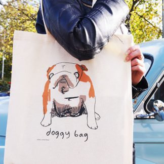British Bulldog Doggy Bag Cotton Shopper
