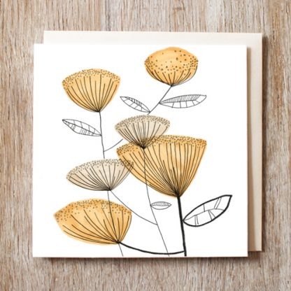 Orange flowers Card