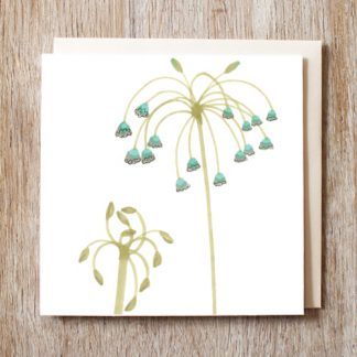 Waterfall Flowers Card