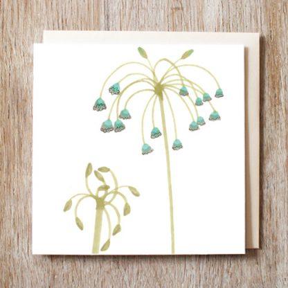 Waterfall Flowers Card