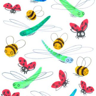 Dragonflies Ladybugs & Bumble Bee's Sticker Set