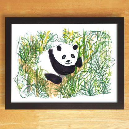 Panda In The Jungle