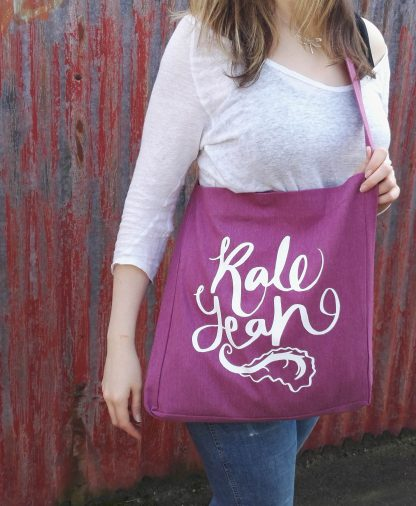 Recycled Sling Tote Bag Kale Yeah