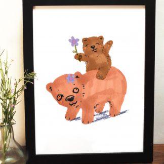 Bear Playtime Print