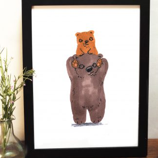 Bear Shoulders Print
