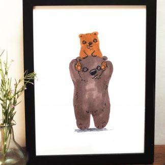 Bear Shoulders Print