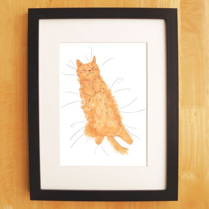 Cat Nap Print Ginger Cat