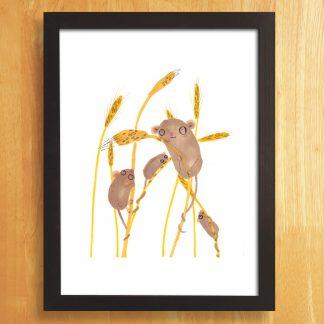 Field Mice Print