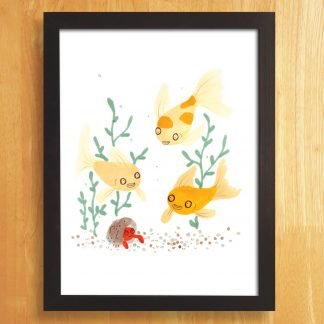Goldfish Friends Art Print