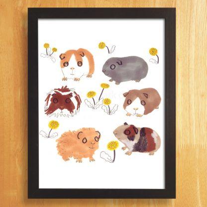 Guinea Pigs Print