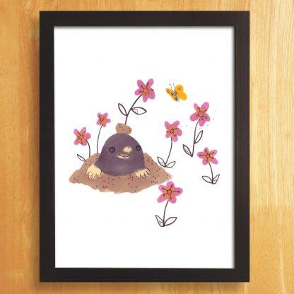 Hello Mole Art Print