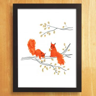 Red Squirrels Art Print