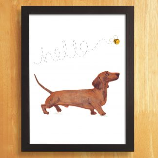 Dachshund 'sausage dog' Print