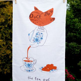 The Tea Owl Tea Towel