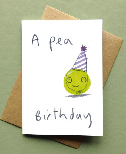 A Pea Birthday Happy Birthday Card