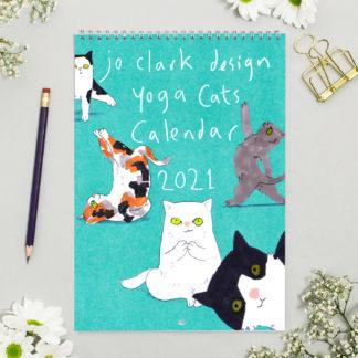 yoga cat calendar 2021