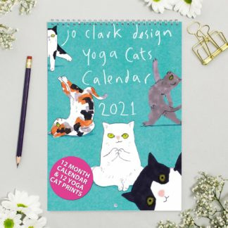 yoga cats calendar 2021 product shot
