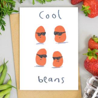 Cool Beans Greetings Card