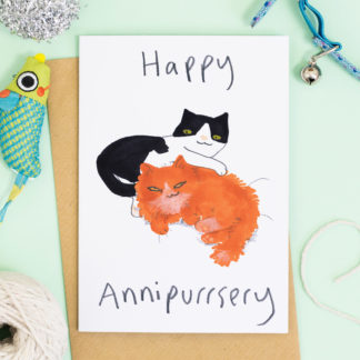 Happy Annipurrsery Cat Anniversary Card