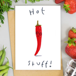 hot stuff valentines card