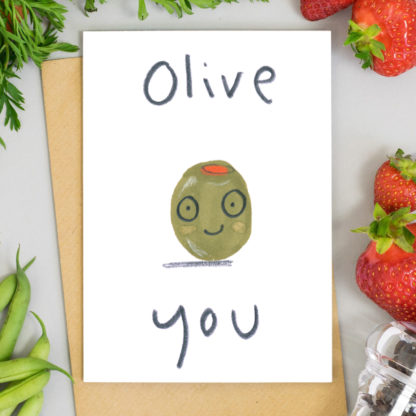 Olive You Valentines Card