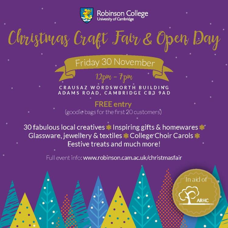 robinson college christmas craft fair 2018