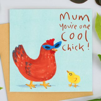 Cool Chick Mothers Day Card