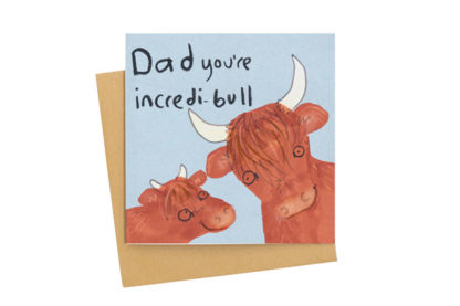 dad you're incredi-bull fathers day card