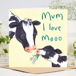 Cow Mothers Day Card