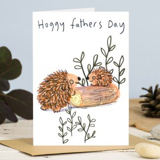 Hedgehog Fathers Day Card