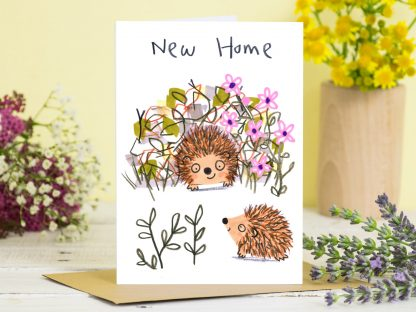 New Home Hedghog Card