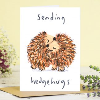 Sending Hugs Hedgehog Card