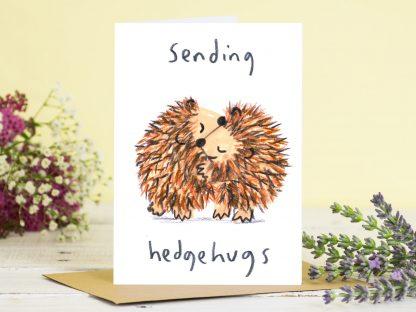 Sending Hugs Hedgehog Card