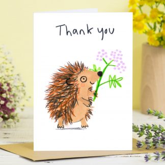 Thank You Hedgehog Card