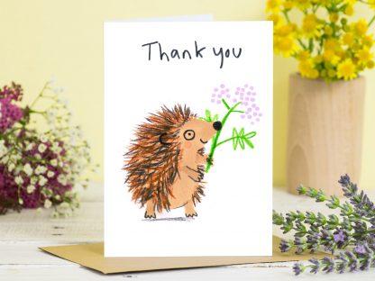 Thank You Hedgehog Card