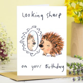 Hedgehog pun Birthday card