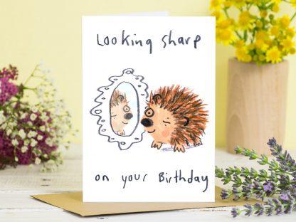 Hedgehog pun Birthday card