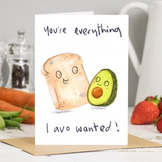 Avocado toast card