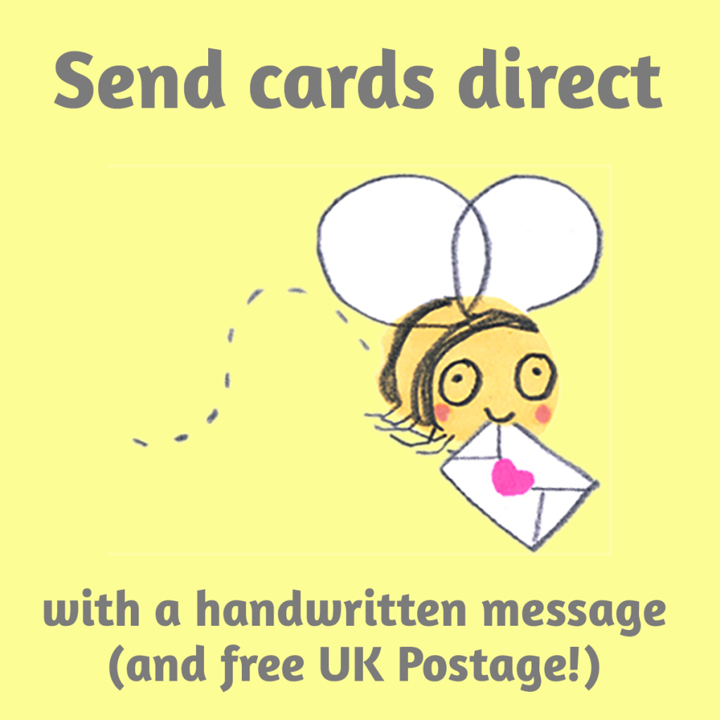 'send cards direct' bee carrying greetings card