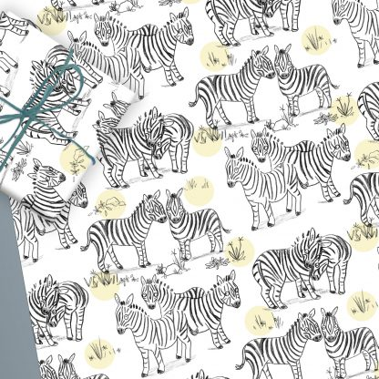 zebra wrapping paper