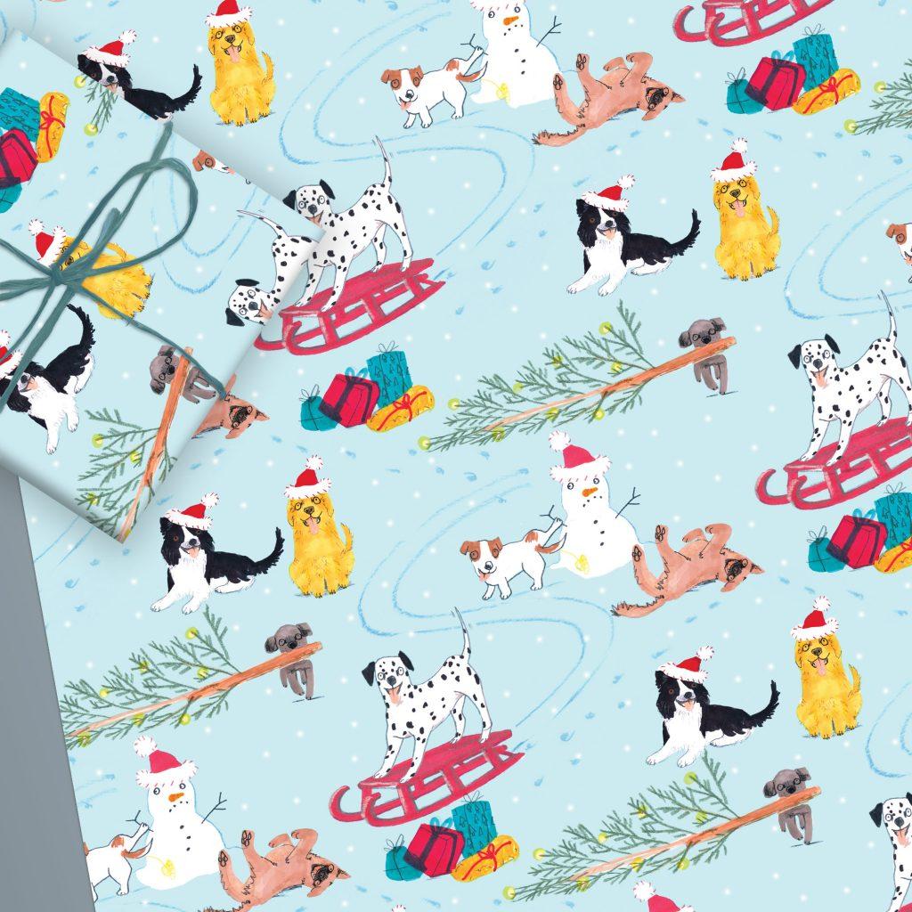Christmas Dog Gift Wrap