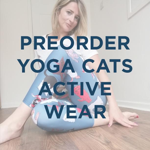 preorder yoga cats active wear