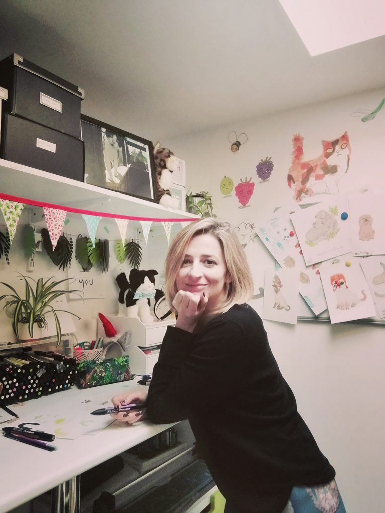 jo clark, owner of jo clark design, in her studio
