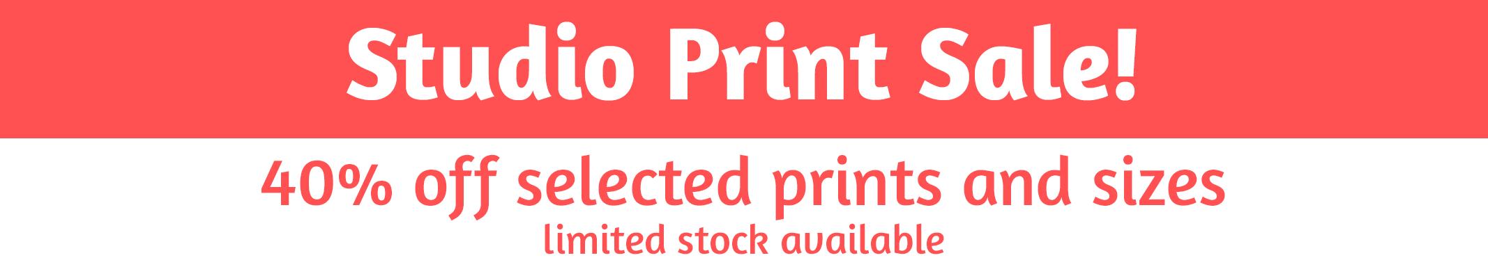 studio print sale