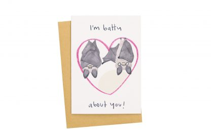 Bats Valentines card