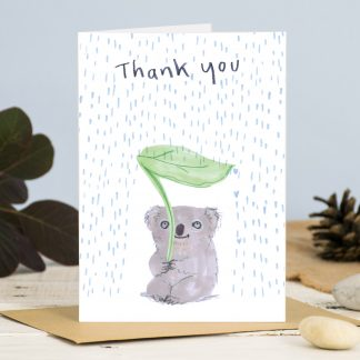thank you card koala