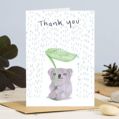 thank you card koala